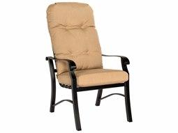 Woodard Cortland Cushion Aluminum High Back Dining Arm Chair