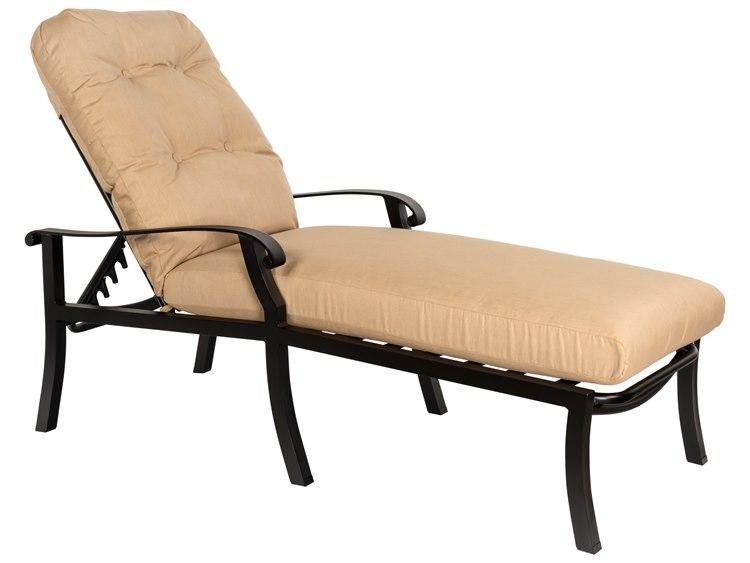 Woodard Cortland Cushion Aluminum Adjustable Chaise Lounge PatioLiving