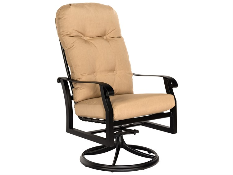 Woodard Cortland Cushion Aluminum High Back Swivel Rocker