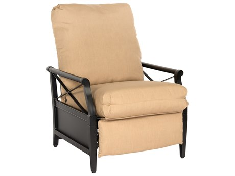 Woodard Andover Cushion Aluminum Recliner Lounge Chair