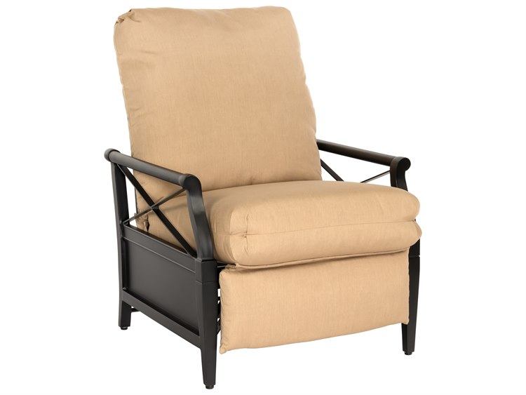 Woodard Andover Cushion Aluminum Recliner Lounge Chair 510452