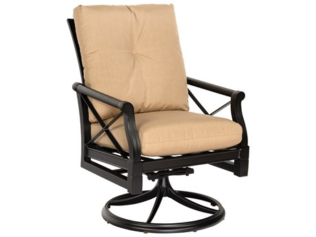 Woodard Andover Cushion Aluminum Swivel Rocker PatioLiving