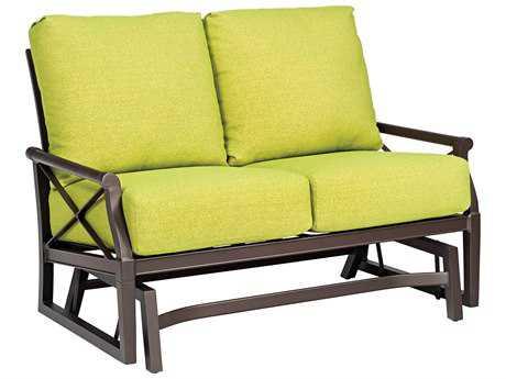 Woodard Andover Cushion Aluminum Gliding Loveseat