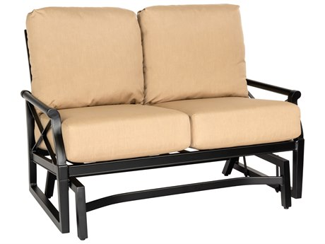 Woodard Andover Cushion Aluminum Gliding Loveseat PatioLiving