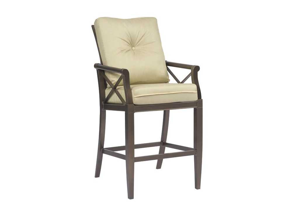 Woodard Andover Stationary Bar Stool Replacement Cushions