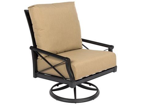 Woodard Andover Cushion Big Man's Swivel Rocking Lounge Chair