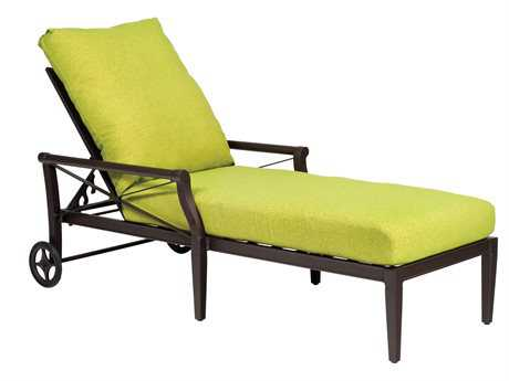 Woodard Andover Adjustable Chaise Lounge with Waterfall Replacement Cushions