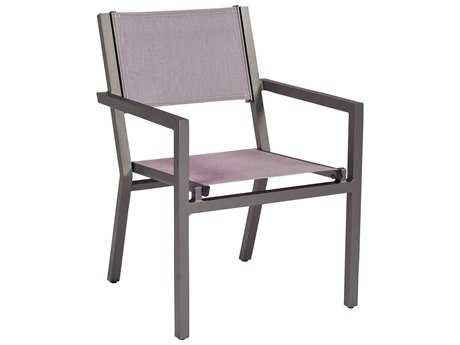 Woodard Palm Coast Aluminum Dining Arm Chair - Stacking