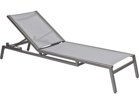 Woodard Palm Coast Aluminum Adjustable Chaise Lounge - Stacking