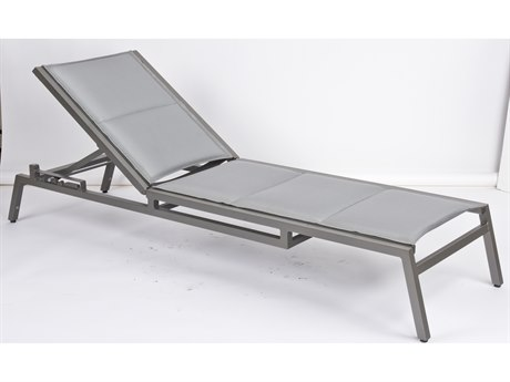 Woodard Palm Coast Padded Sling Aluminum Chaise Lounge