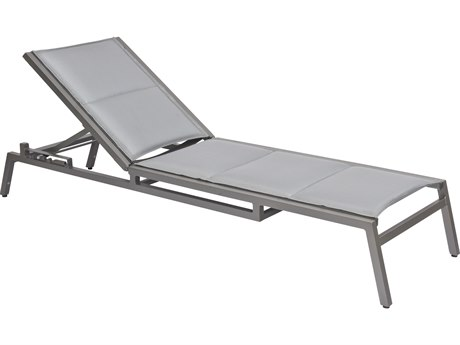 Woodard Palm Coast Padded Sling Aluminum Stackable Adjustable Chaise Lounge