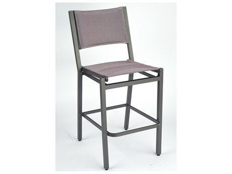 Woodard Palm Coast Padded Sling Aluminum Bar Stool without Arms