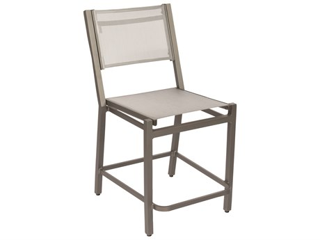 Woodard Palm Coast Sling Aluminum Counter Stool