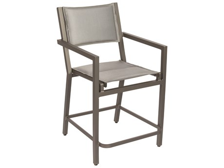 Woodard Palm Coast Padded Sling Aluminum Counter Stool