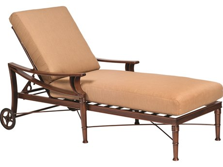 Woodard Arkadia Cushion Aluminum Adjustable Chaise Lounge