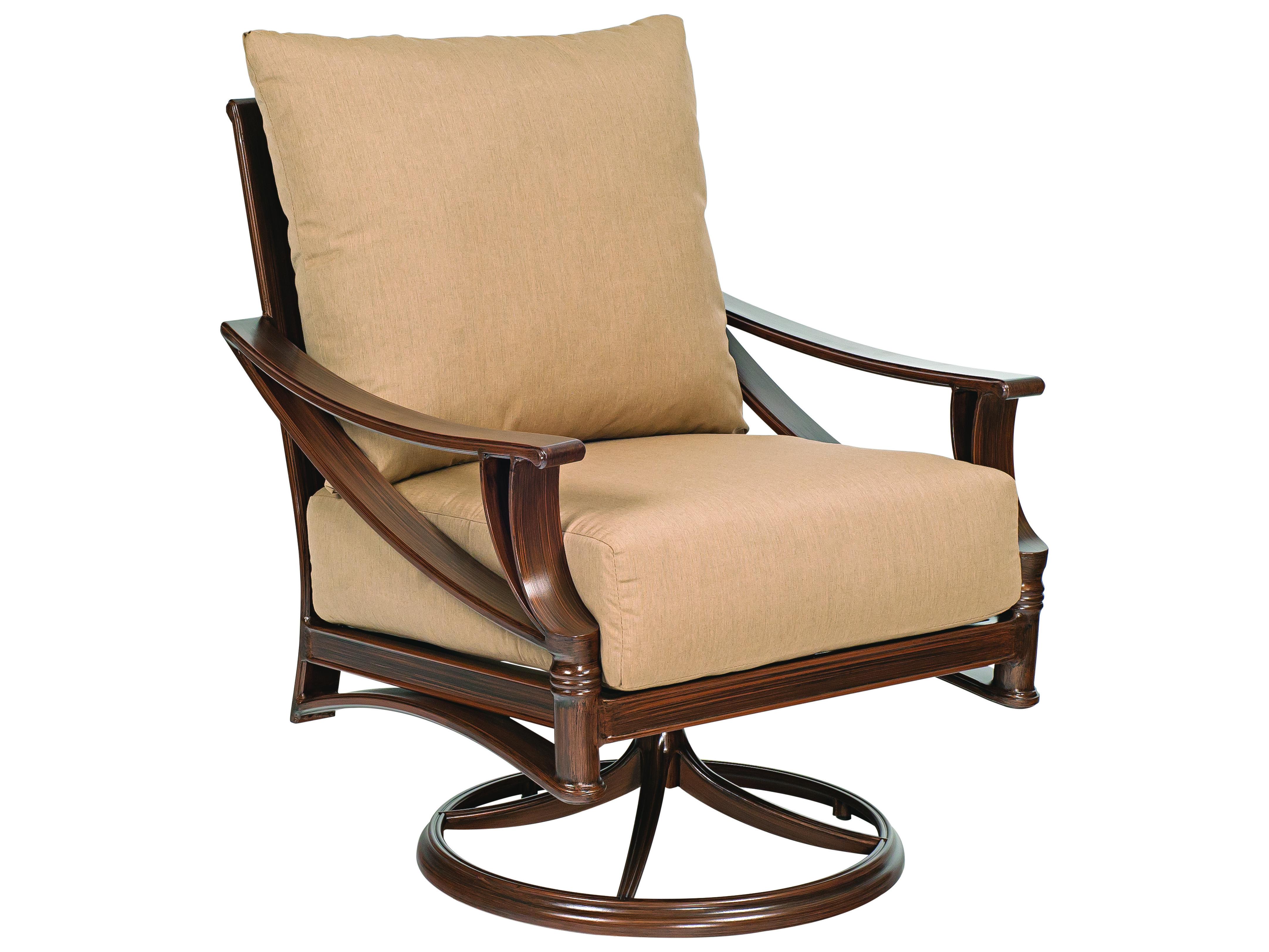 Woodard Arkadia Cushion Aluminum Swivel Rocker Lounge