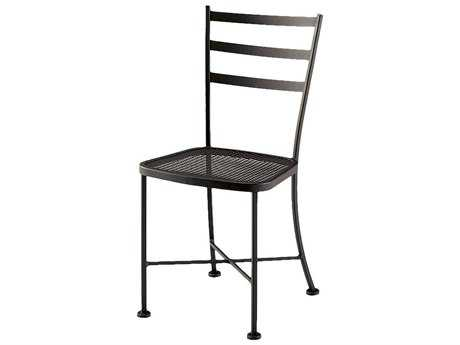 Woodard Cafe Classics Marsala Wrought Iron Dining Side Chair