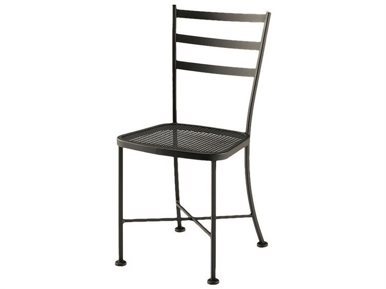Woodard Cafe Classics Wrought Iron Marsala Dining Side Chair PatioLiving