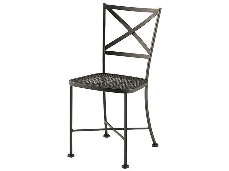 Woodard Cafe Classics Wrought Iron Genoa Dining Side Chair PatioLiving