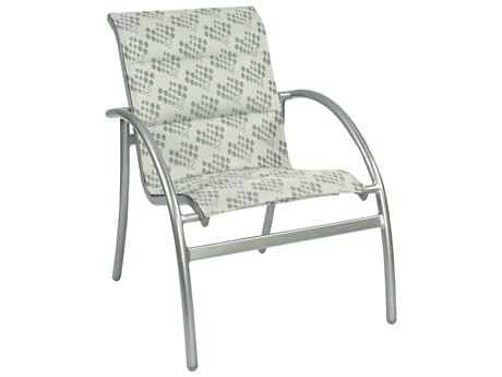 Woodard Tribeca Padded Sling Aluminum Stackable Dining Arm Chair