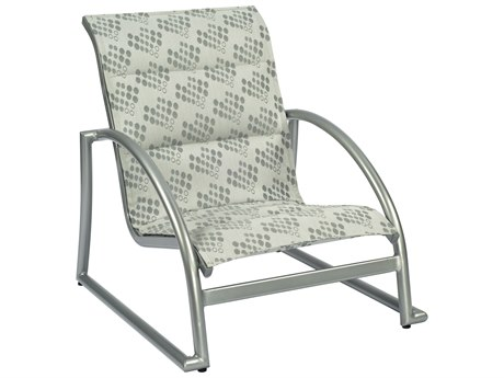 Woodard Tribeca Padded Sling Aluminum Stackable Sand Lounge Chair