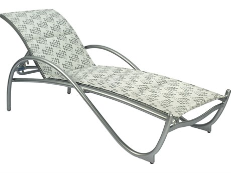 Woodard Tribeca Padded Sling Aluminum Stackable Adjustable Chaise Lounge