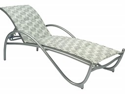 Tribeca Padded Sling Aluminum Chaise Lounge