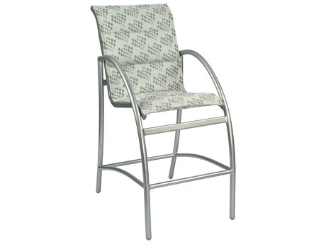 Woodard Tribeca Padded Sling Aluminum Bar Stool