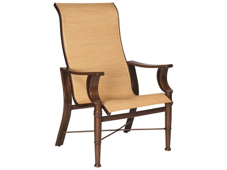Woodard Arkadia Sling Aluminum High-Back Dining Chair
