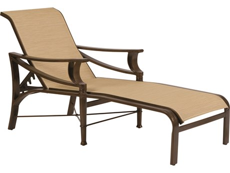 Woodard Arkadia Sling Aluminum Adjustable Chaise Lounge