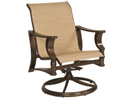 Woodard Arkadia Sling Aluminum Swivel Rocker Lounge Chair