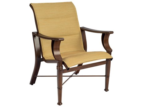 Woodard Arkadia Padded Sling Aluminum Dining Chair