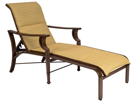 Woodard Arkadia Padded Sling Aluminum Adjustable Chaise Lounge