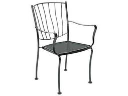 Aurora Wrought Iron Stackable Dining Arm Chair