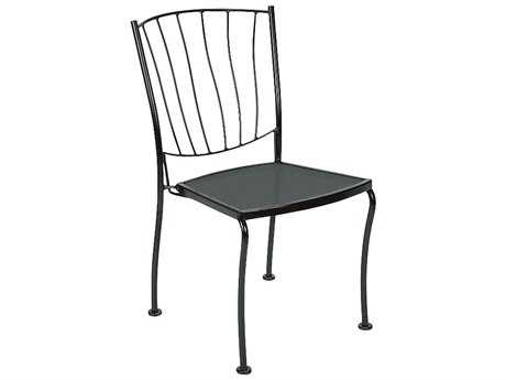 Woodard Aurora Wrought Iron Stackable Dining Side Chair