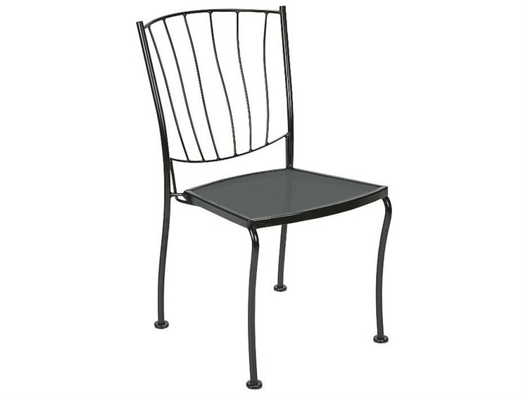 Woodard Aurora Wrought Iron Dining Side Chair