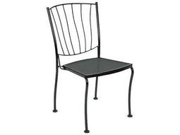 Aurora Wrought Iron Stackable Dining Side Chair