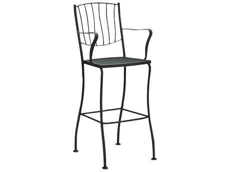 Woodard Aurora Wrought Iron Bar Stool