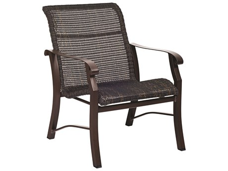 Woodard Cortland Woven Round Weave Wicker Lounge Chair
