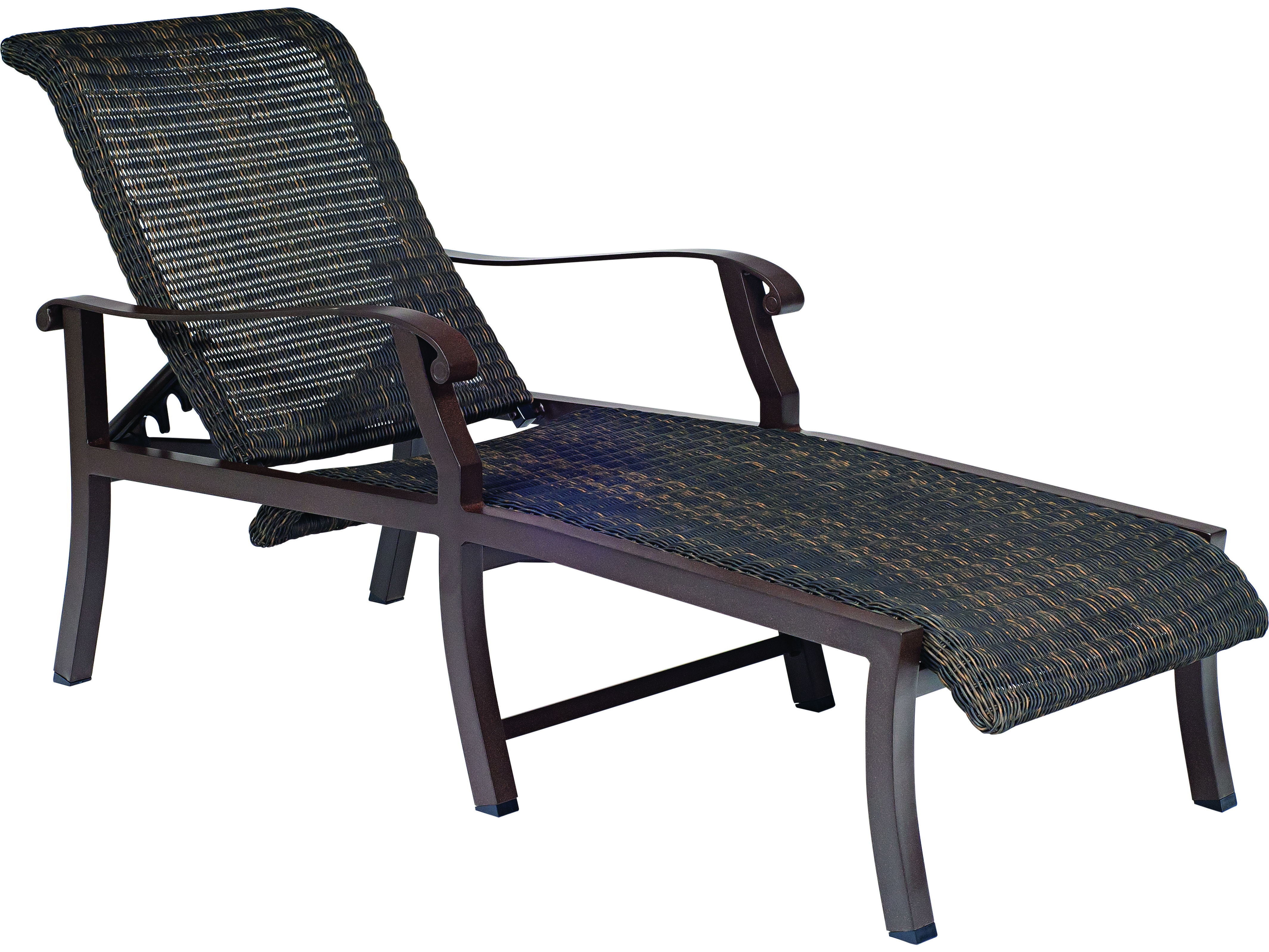 woodard cortland woven round weave wicker adjustable. Black Bedroom Furniture Sets. Home Design Ideas