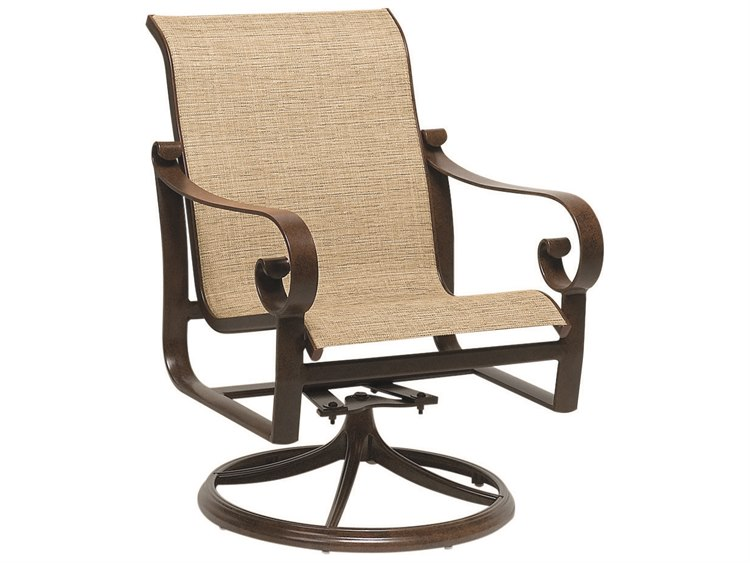 Woodard Belden Sling Aluminum Swivel Rocker