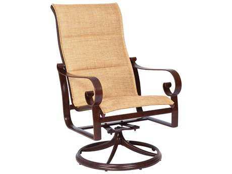 woodard belden padded sling aluminum high back swivel rocker - Swivel  Rocker Patio Chairs. Malta - Sling Swivel Rocker Patio Chairs Our Designs