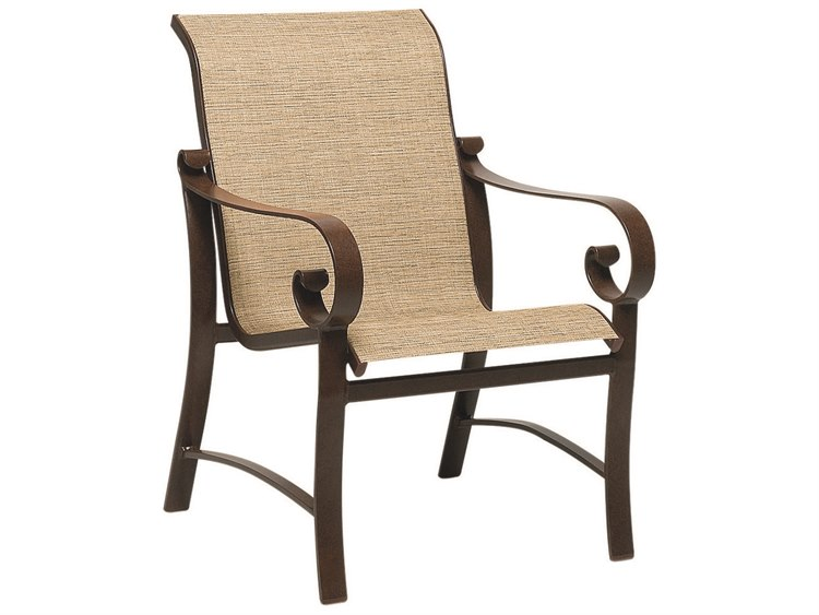 Woodard Belden Sling Aluminum Dining Chair PatioLiving