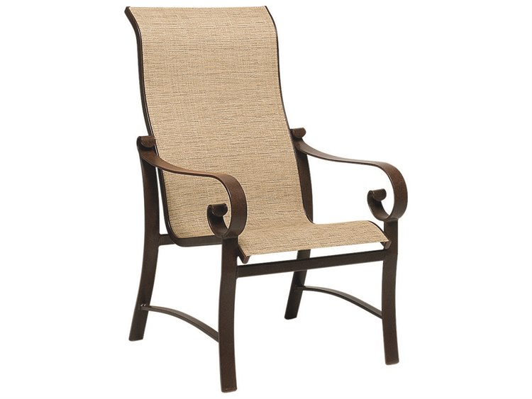 Woodard Belden Sling Aluminum High Back Dining Chair PatioLiving