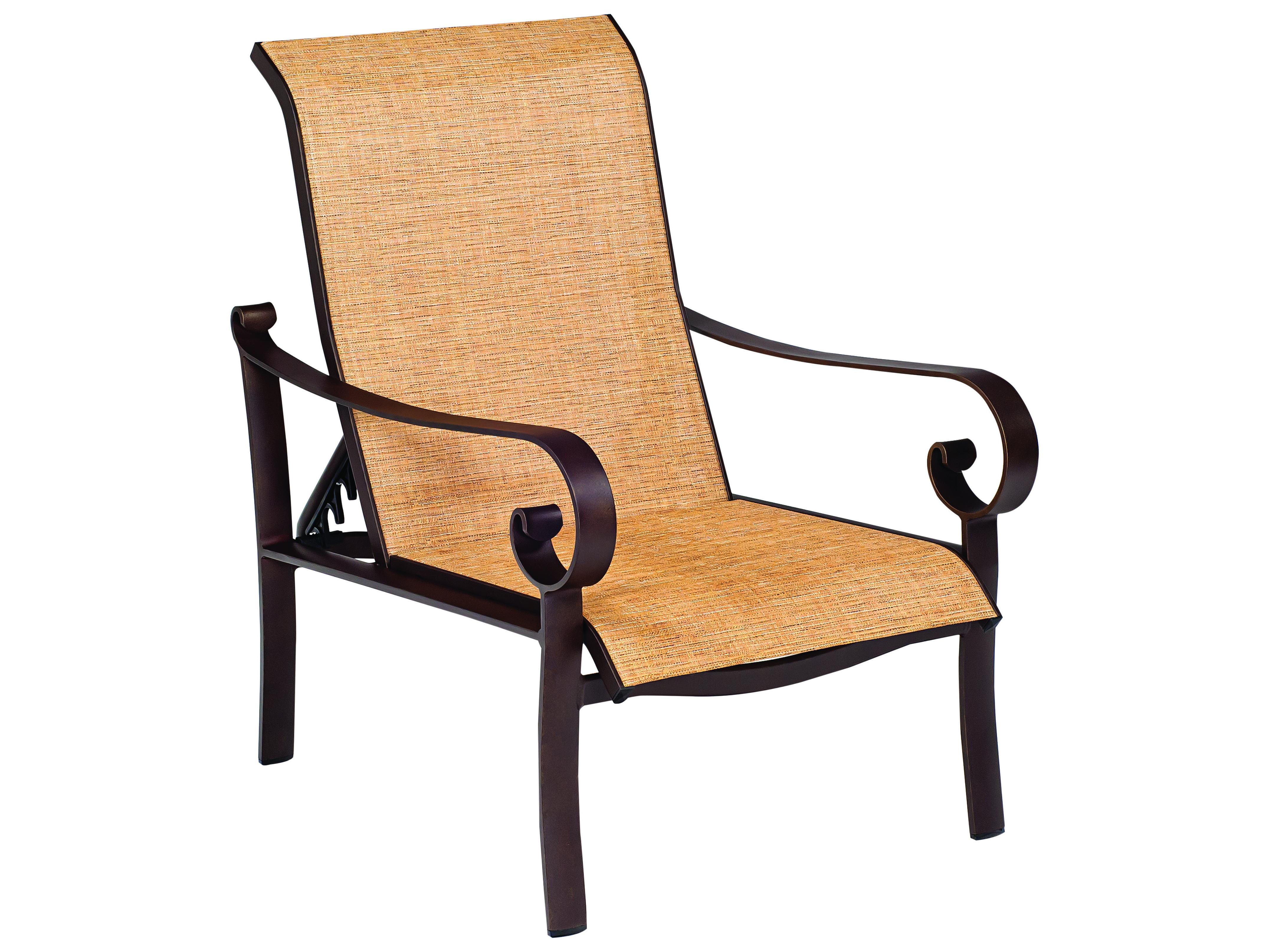 Woodard Belden Sling Aluminum Lounge Chair 62h435