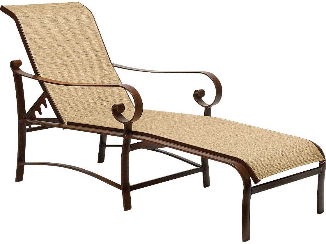 Woodard belden sling aluminum chaise lounge 62h470 for Aluminum chaise lounges