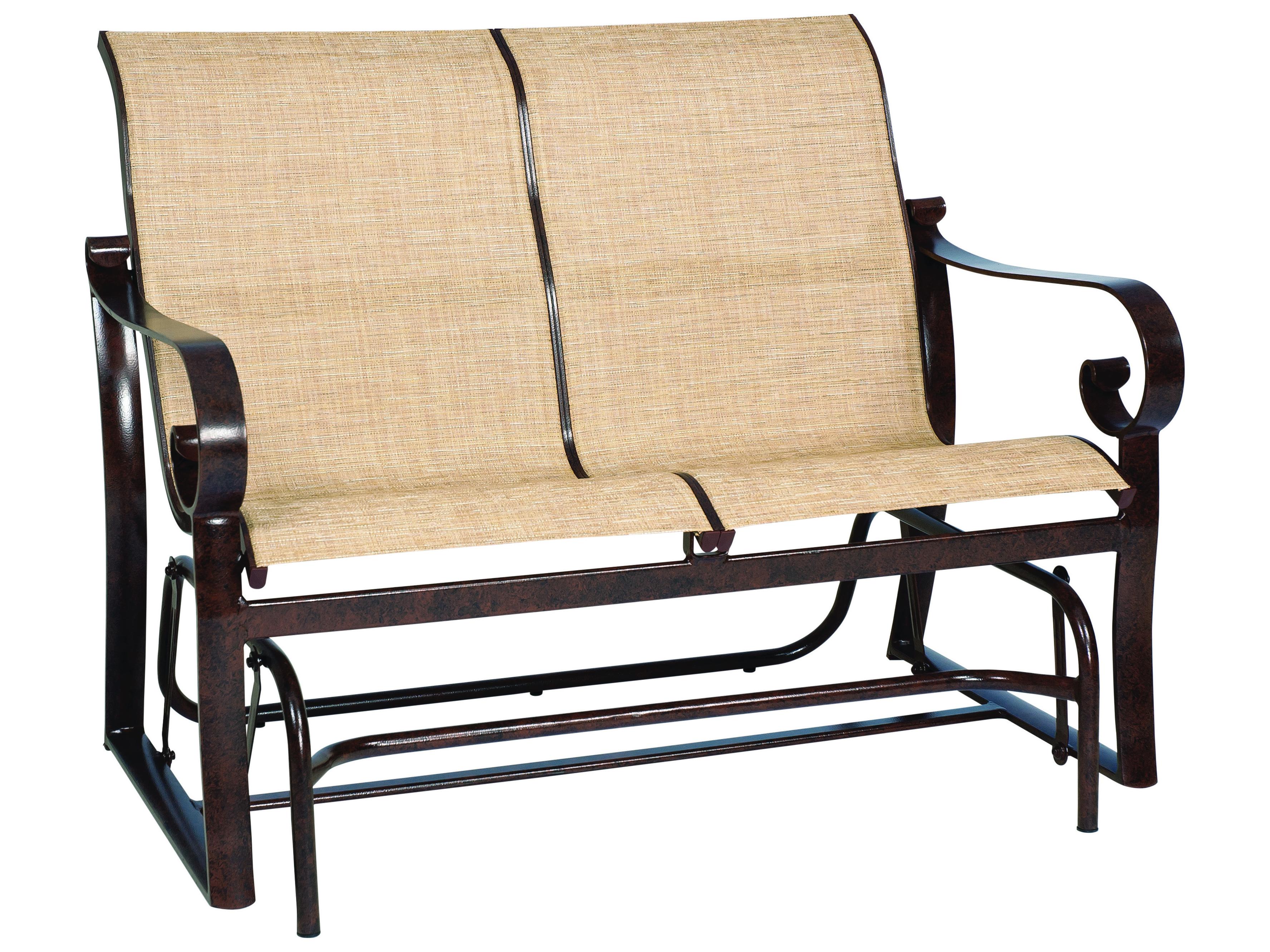 Winston Southern Cay Sling Aluminum Armless Chaise Lounge: Woodard Belden Sling Aluminum Glider Loveseat