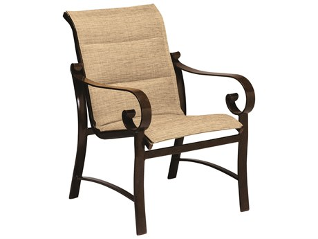 Woodard Belden Padded Sling Aluminum Dining Arm Chair