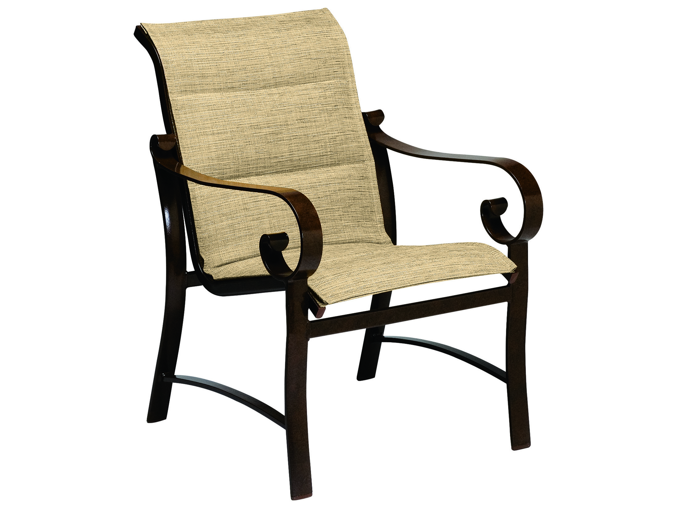 Woodard Belden Padded Sling Aluminum Dining Chair 62h501