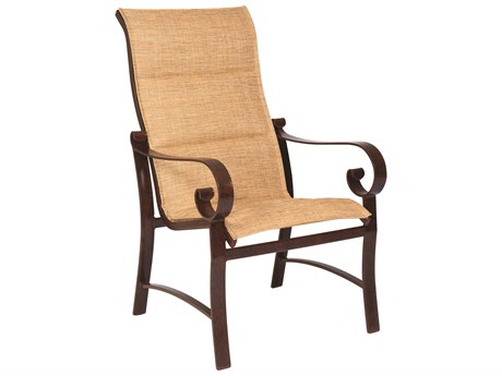 Woodard Belden Padded Sling Aluminum High Back Dining Chair